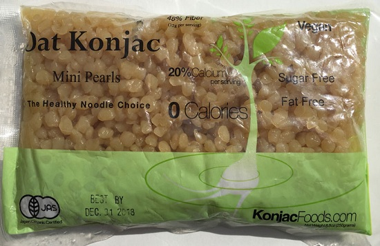 Konjac Oat Mini Pearls Front Package