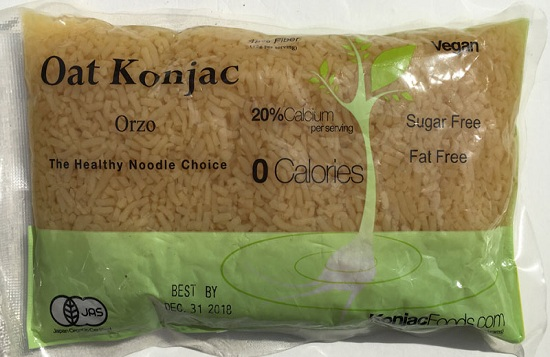 Konjac Oat Orzo Pasta Front Package