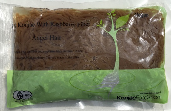 Konjac Oat Raspberry Fiber Pasta - Angel Hair Front Package